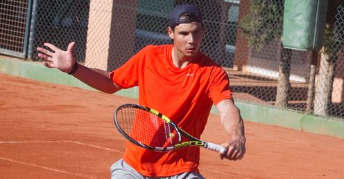 Rafael Nadal: training in Mallorca ahead of his return to action, in Chile