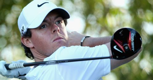 Rory McIlroy playing with his new Nike kit