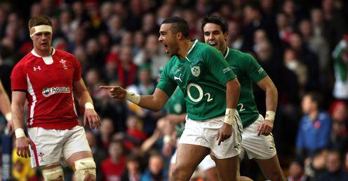 Wales v Ireland Simon Zebo try