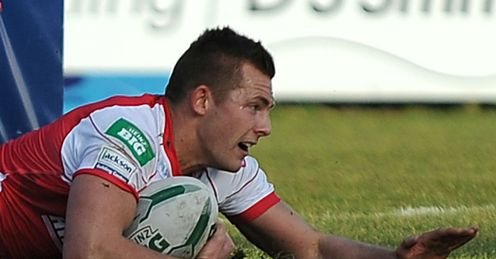Greg Eden Hull KR scoring a try against Widnes Vikings