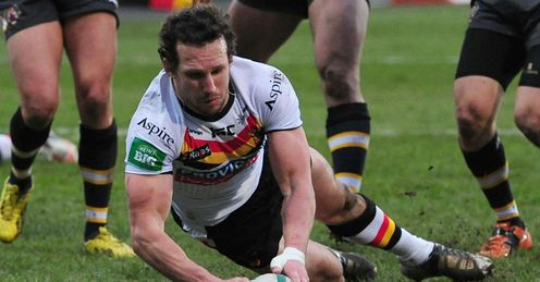 Brett Kearney Bradford Bulls scoring against Castleford