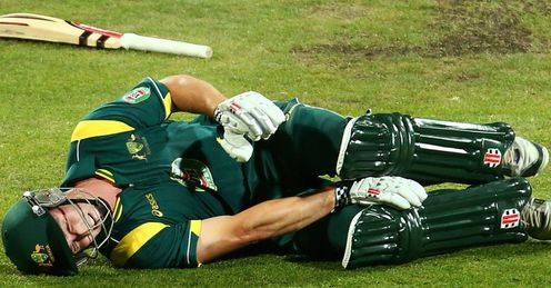 shaun Marsh Australia A collapsed with a knee injury during match against England Lions