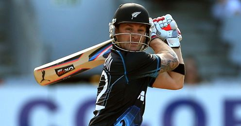 Brendon McCullum New Zealand batting against England in the third ODI in Auckland