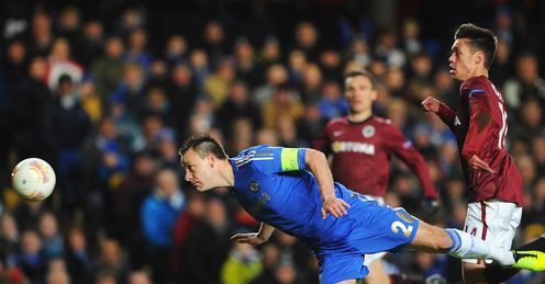 John Terry Chelsea Sparta Prague Europa League last 32 second leg