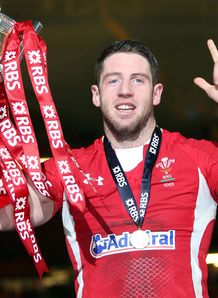 Alex Cuthbert Six Nations trophy 2013