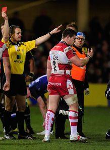 Bath v Gloucester Darren Dawidiuk sent off