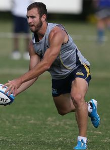 Brumbies scrum half Nic White at training