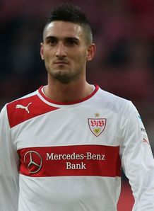 Stuttgart's Federico Macheda is experiencing mixed emotions as he prepares to face Lazio