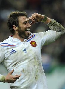 France v Scotland Maxime Medard celeb