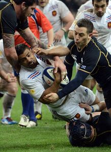 France v Scotland Sebastien Vahaamahina tackle