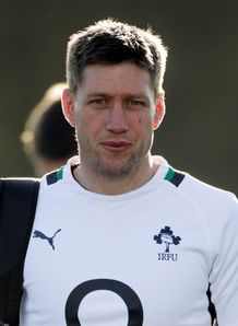 Irelands Ronan O Gara arrives for the training session at Carlton House