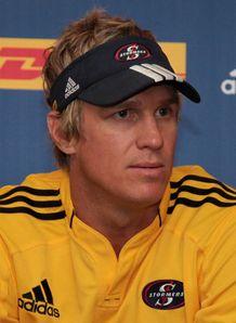 Jean de Villiers at a press conference