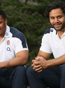 Mako Vunipola and his brother right Billy Vunipola