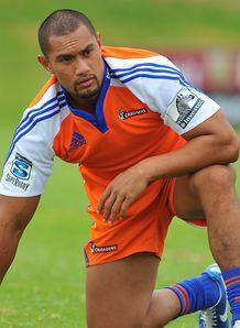 Robbie Fruean taking a knee