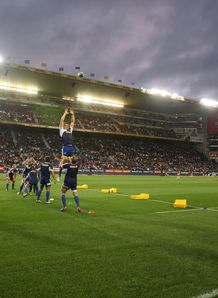 Stormers line out warm up Newlands