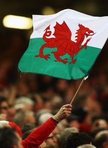 Wales flag Six Nations v England 2013