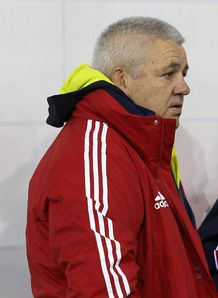 Warren Gatland L the British and Irish Lions head coach
