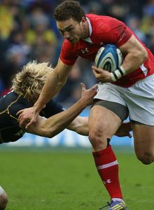 George North Wales making a break against Scotland Six Nations