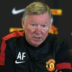 Sir Alex Ferguson faces the press on Friday.