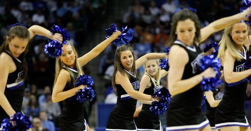 Will the Duke cheerleaders be doing a victory dance at the end of March Madness?