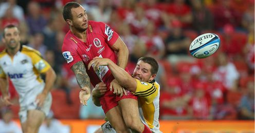 Quade Cooper Reds v Hurricanes Round Three 2013