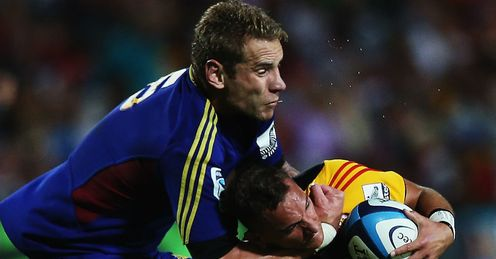 Jarrad Hoeata high tackle Aaron Cruden Chiefs v Highlanders round six 2013