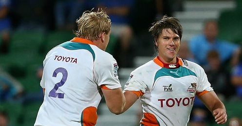 Riaan Smit right and Adriaan Strauss Cheetahs v Western Force in Perth Super Rugby