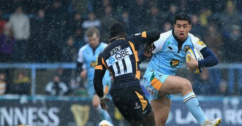 George Pisi Northampton Saints v Wasps Aviva Premiership Adams Park
