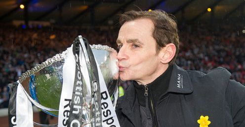Saints manager Danny Lennon after the Cup final victory