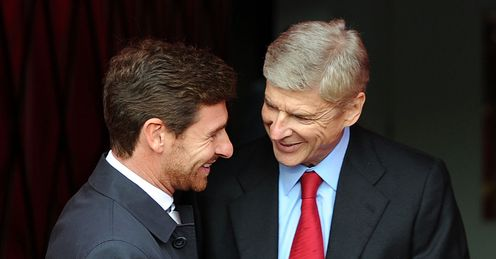 Wenger: will he be smiling when his side face Villas-Boas' Tottenham?