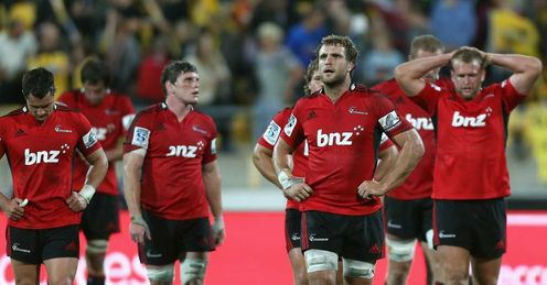 Crusaders players downcast after losing to Hurricanes
