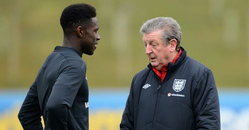 Danny Welbeck and Roy Hodgson England Training
