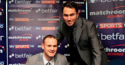 Signing on: Groves (left) has joined Hearn's Matchroom stable