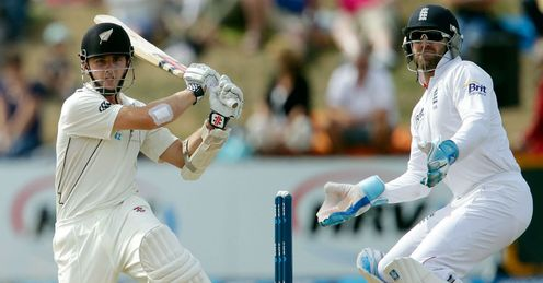 Kane Williamson batting New Zealand v England second Test