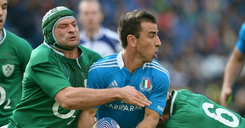 Luciano Orquera Rory Best Peter OMahoney Italy v Ireland
