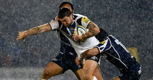 Matt Banahan tackled Sale v Bath Aviva Premiership