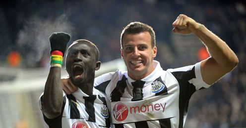 Newcastle v Anzhi Makhachkala Papiss Cisse Steven Taylor