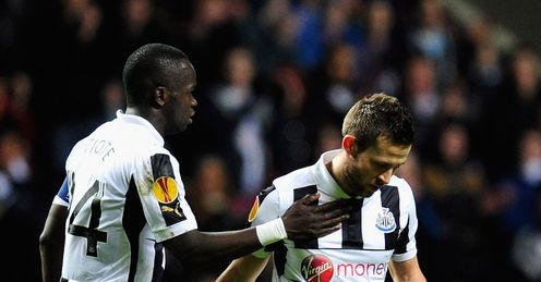 Newcastle v Anzhi Makhachkala Yohan Cabaye injury