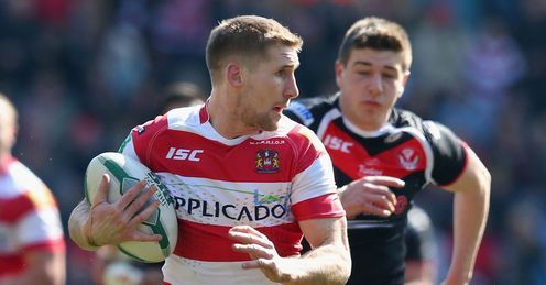 Sam Tomkins Wigan Warriors v St Helens Super League