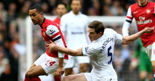 Battle: Arsenal and Spurs will tussle again this Sunday