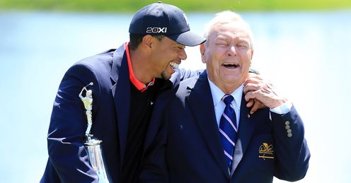 Tiger Woods: all smiles after victory in the Arnold Palmer Invitational