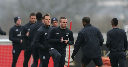 Tom Cleverly and Scott Parker England Training