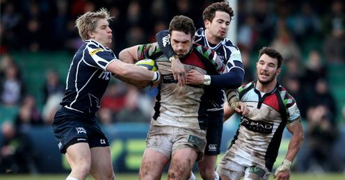 Tom Guest Charlie Amesbury Danny Cipriani Harlequins v Sale Sharks