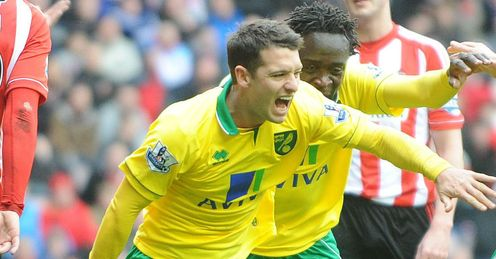 Hoolahan: celebrates the first Premier League goal for an Irishman on St Patrick's Day