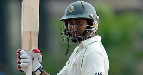 Mohammad Ashraful Bangladesh celebrating his half-century against Sri Lanka