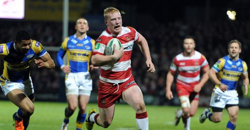 Liam Farrell Wigan Warriors scoring a try against Leeds Rhinos