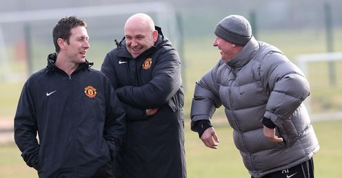 TONY STRUDWICK MIKE PHELAN SIR ALEX FERGUSON MANCHESTER UNITED CHAMPIONS LEAGUE TRAINING