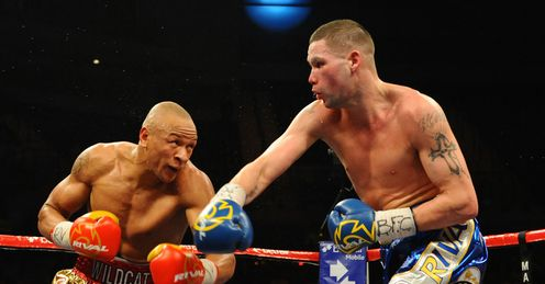 Miss: Bellew (right) found it difficult to pin down Chilemba, says Johnny