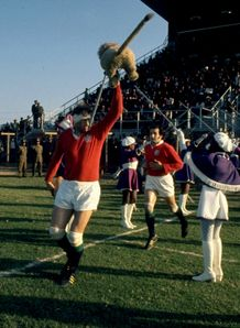 1974 - Willie John McBride leads out the British and Irish Lions