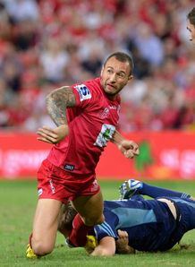 Quade Cooper Reds v Blues Round 11 2013
